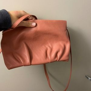 zara real leather bag